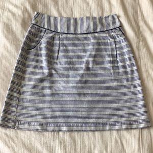 Anthropologie Edme & esyllte lavender/white skirt